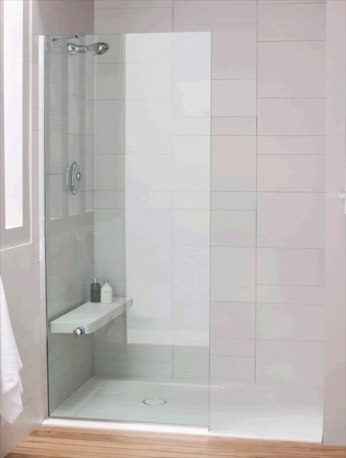 Daryl Minima Glass Divider 900mm With Intergrated Shower