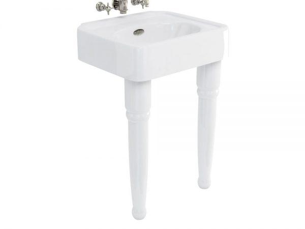 Burlingtion 600mm basin & ceramic console legs - no tap ...